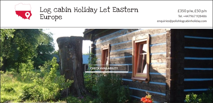 Polish Log Cabin Holiday Let website