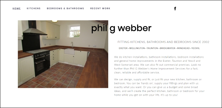 Kitchen and Bathroom Fitters website